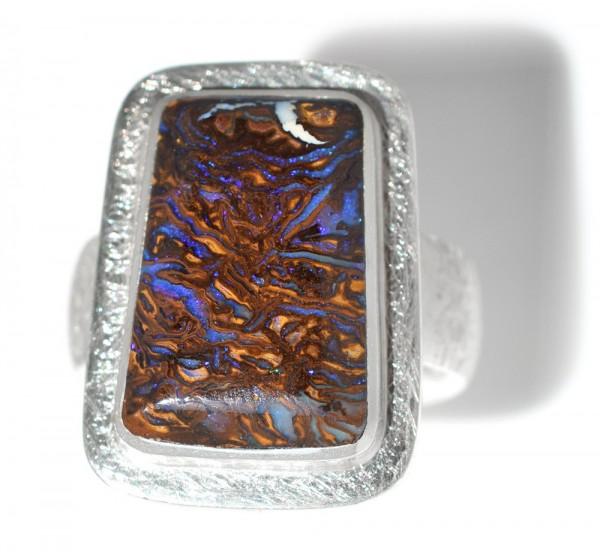 Opal Silberring, Boulderopal