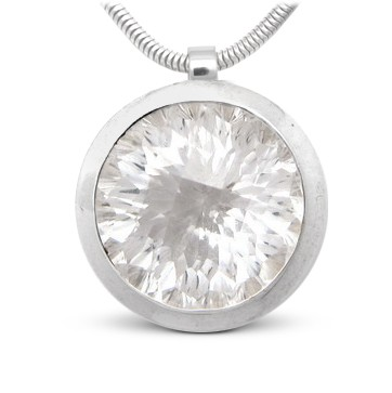 Bergkristall Anhänger in Silber