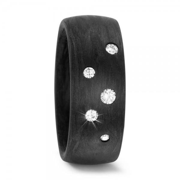Carbon Diamant Ring