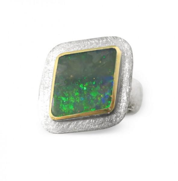 Ring mit Boulder Opal