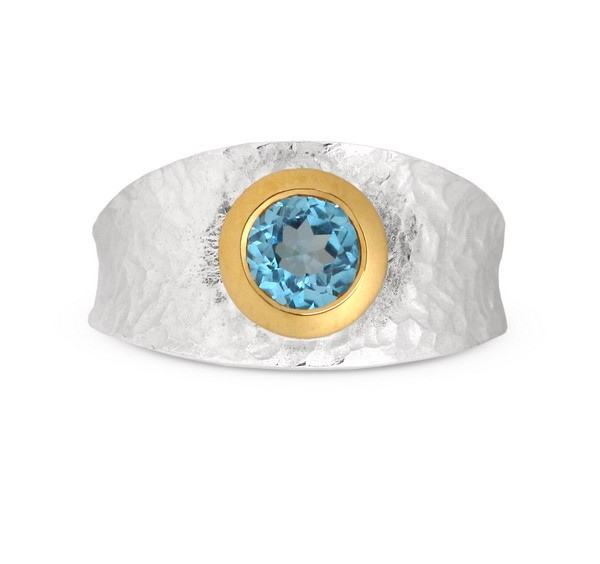 Topas Ring, bicolor