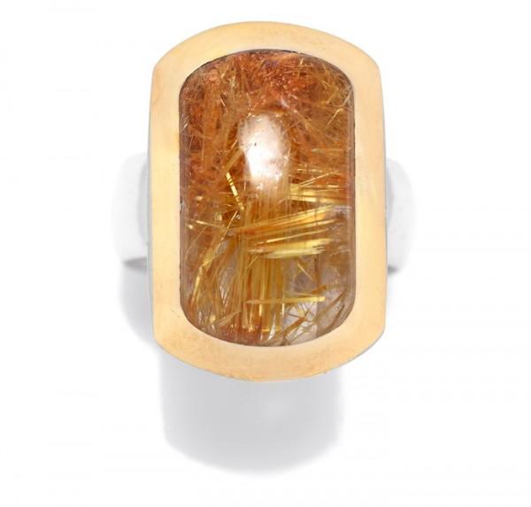 Rutilquarz Unikat Ring
