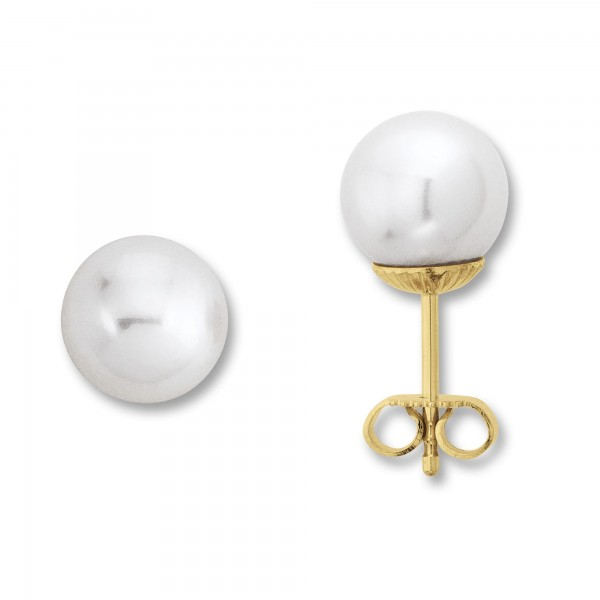 Große Süßwasser Perle mit 14 Karat Gold