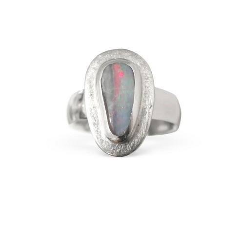 Boulder Opal Ring, Silber