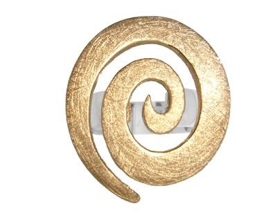 Silber Ring - Gold-Spiral
