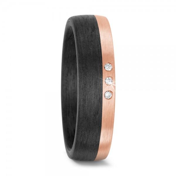 Ring Roségold und Carbon