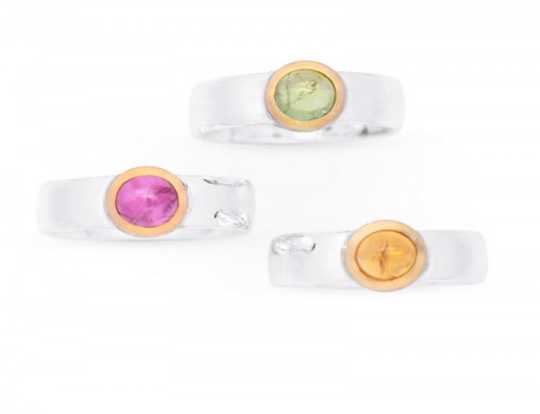 Turmalin Ring mit Gold