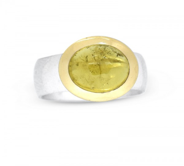 Turmalin Ring mit Goldfassung