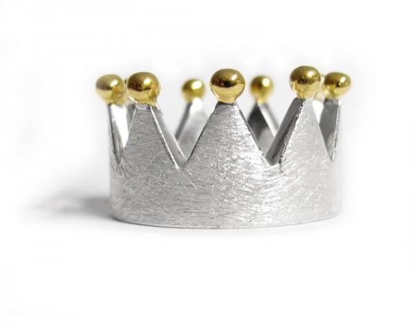 Kronen-Ring - Bicolor