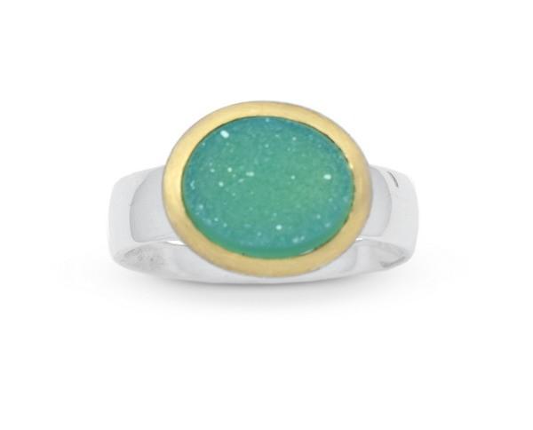 Achatdruse Ring, grün