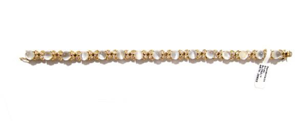 Mondstein - Diamant Armband in 750 Gold