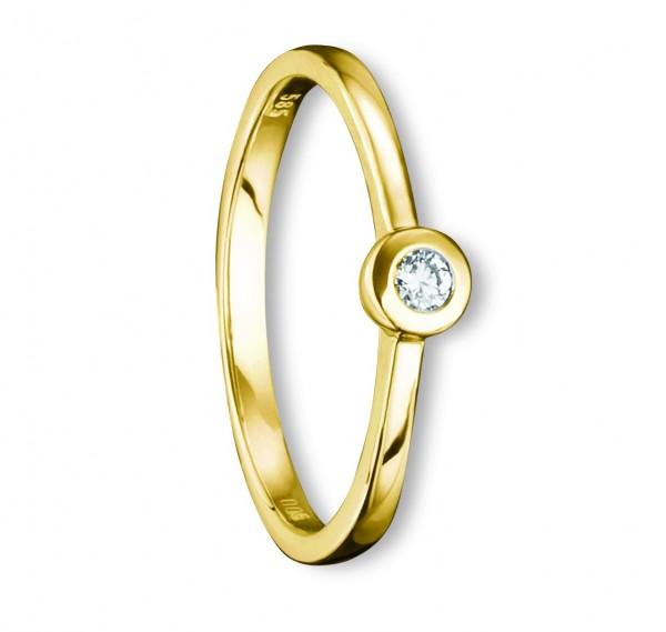 Gelbgold Ring 585/° Diamant