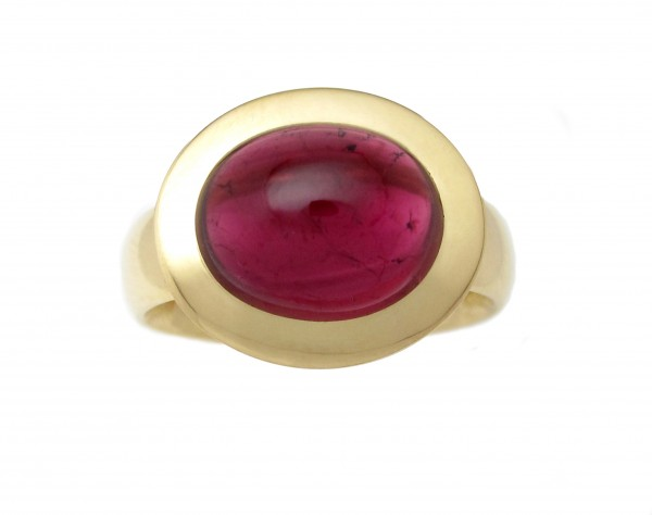 Rubellit Ring, 18 Karat Gold