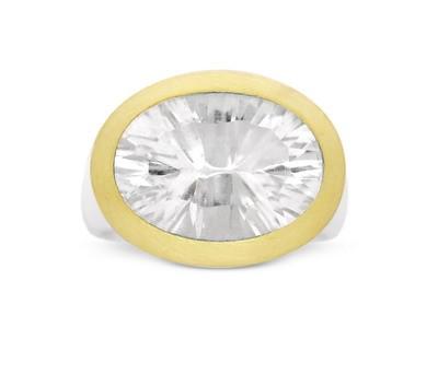 Bergkristall Ring, bicolor