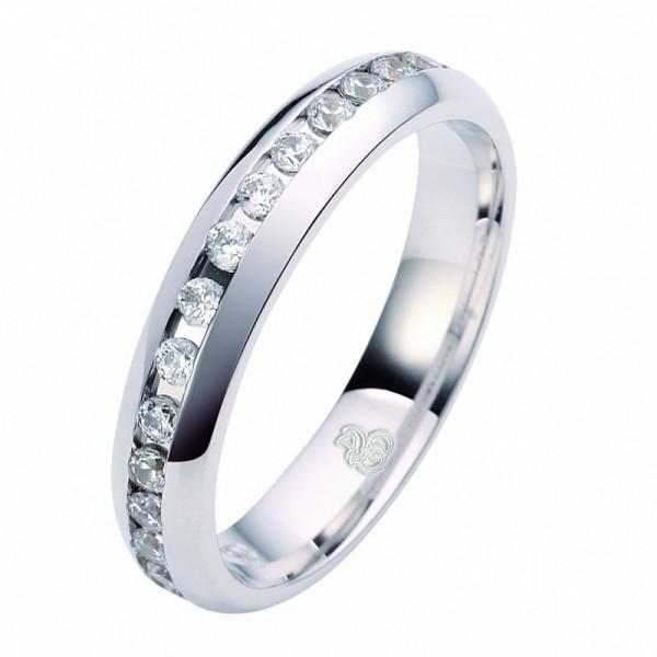 Weißgold Ring mit Brillanten