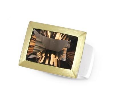 Rauchquarz Ring, bicolor
