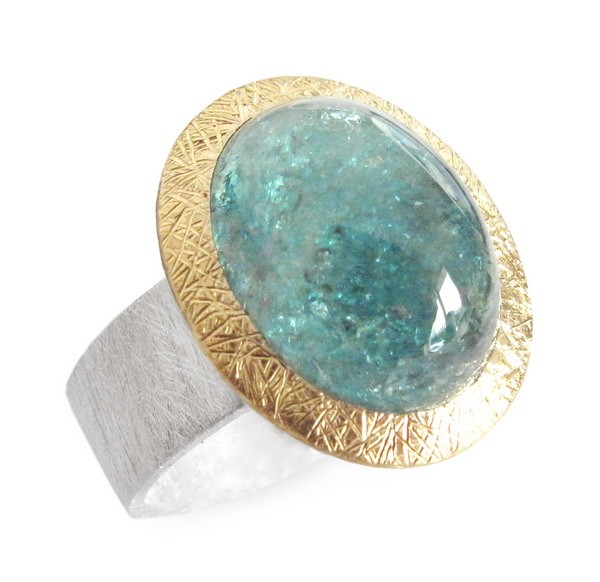 Turmalin Indigolith Ring