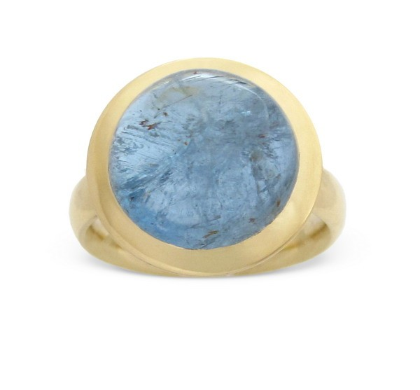Aquamarine Ring 18 Karat Gold