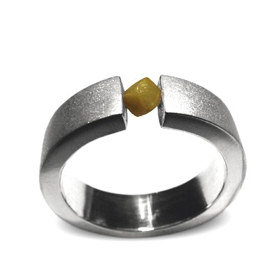 Diamant Ring, Herrenring mit Natur Diamant