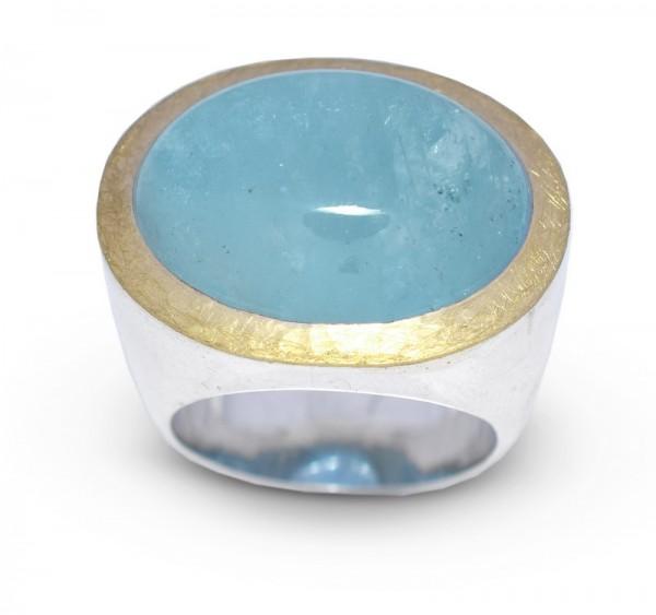 Aquamarin Unikat Ring