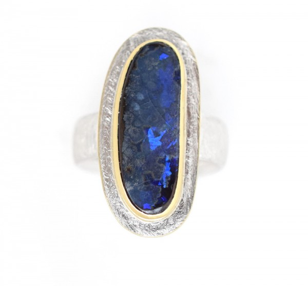 Boulderopal Ring, bicolor