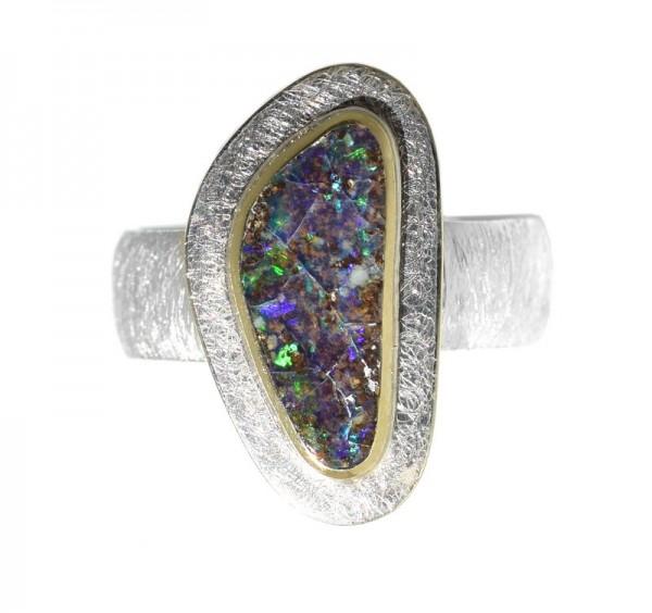 Opal Ring, Boulder Opal