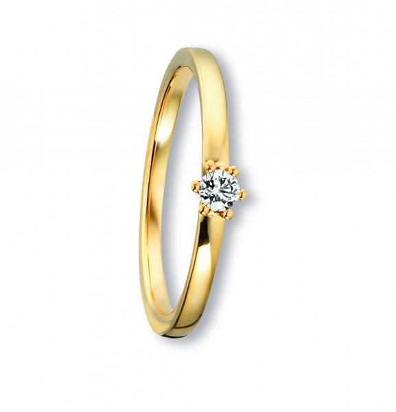 Ring Brillant 0,09ct 585/- Gelbgold
