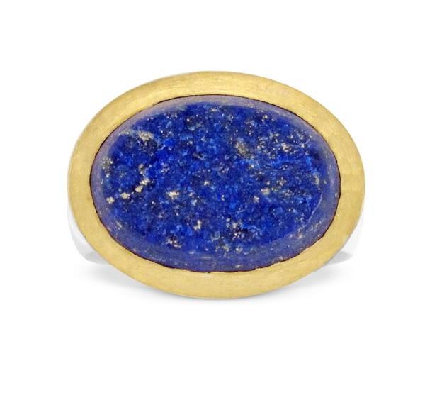 Lapislazuli Ring Natur Kristall