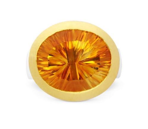 Citrin Ring, bicolor