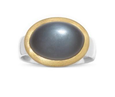 Mondstein Ring, bicolor