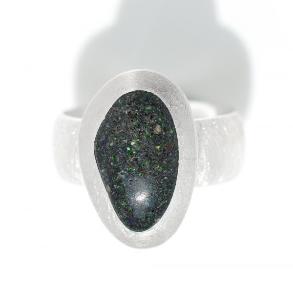 Hondurasopal Silberring