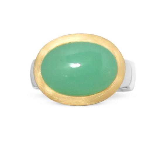 Chrysopras Ring