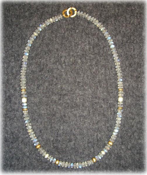 Rainbow Moonstone Collier