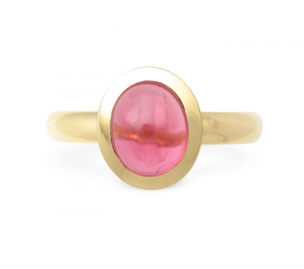 Pink Turmalin Ring in 18 Karat Gold