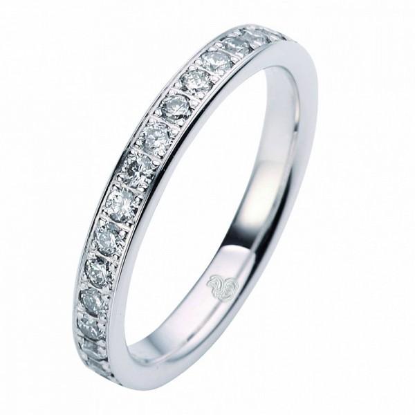 Weißgold Ring mit Diamant
