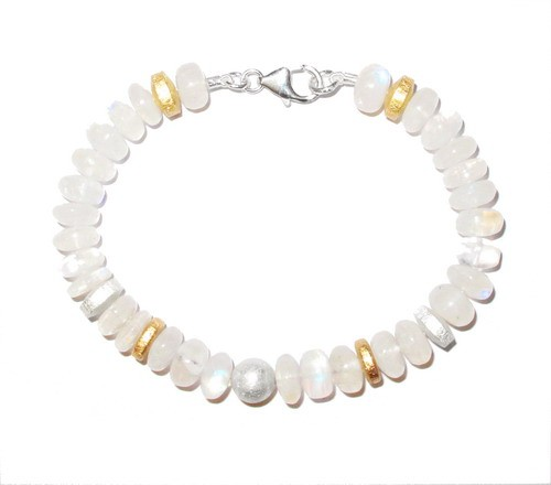 Mondstein Armband ( Heller Labradorit )