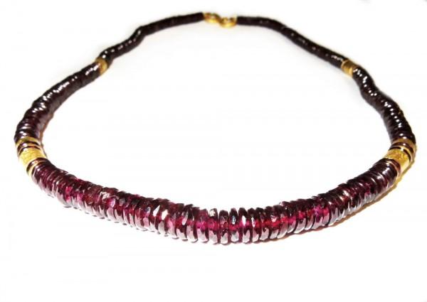Rhodolith- Granat Collier