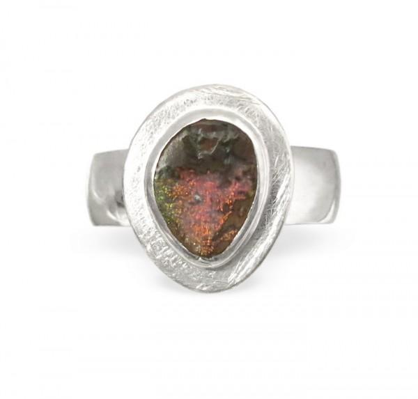 Boulder Opal Silberring