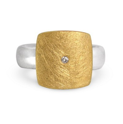 Diamant Ring, bicolor