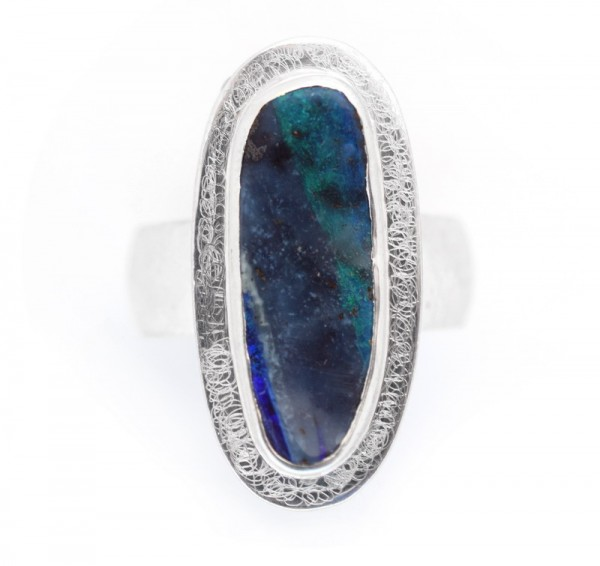 Opal Silberring, Boulder Opal