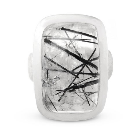 Turmalinquartz Ring, Silber