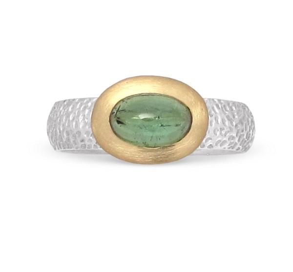 Turmalin Ring 18 Karat Gold Fassung